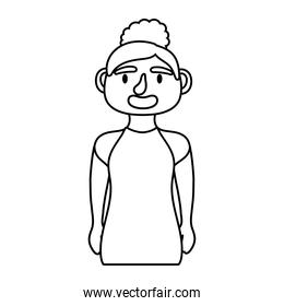girl   character line style icon