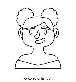 woman avatar character line style