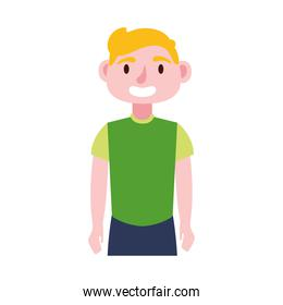 young man blond avatar character icon