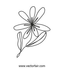 flower plant one line style icon