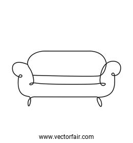 sofa livingroom forniture one line style icon