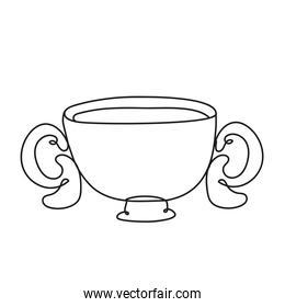 trophy cup one line style icon