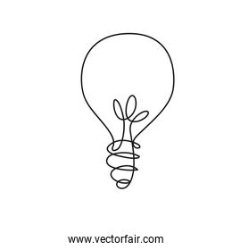 bulb light one line style icon