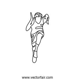 athlete runner one line style icon