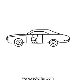 car vehicle one line style icon