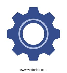 gear settings machine isolated icon