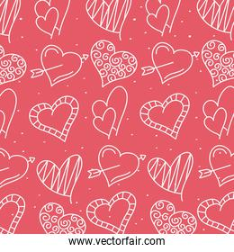 bundle of hearts love line style pattern