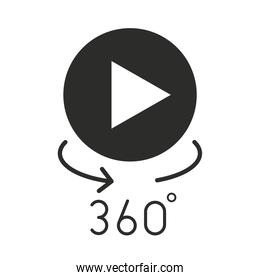 augmented reality streaming service and cinema 360 degree silhouette style