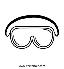 medical wear protective glasses equipment sketch icon