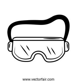medical wear goggles protective equipment sketch icon