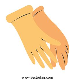 cleaning, yellow rubber gloves supply tool equipment