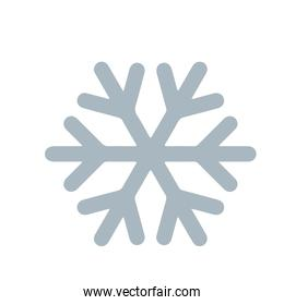 winter snowflake cold icon isolated image