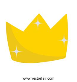 golden crown monarchy royalty icon isolated image