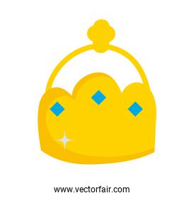 golden crown diamonds monarchy royalty icon isolated image