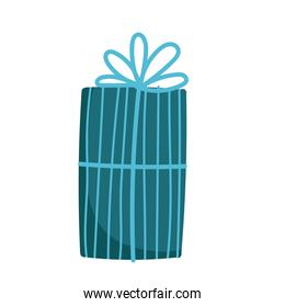 striped gift box decoration and celebration icon