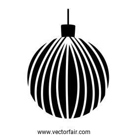 christmas ball decoration ornament traditional silhouette icon