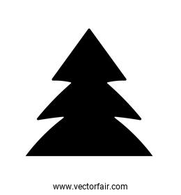 pine tree forest foliage nature in silhouette style icon