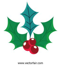 happy new year holly berry nature decoration icon
