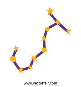 space cute stars and constellation galaxy icon design