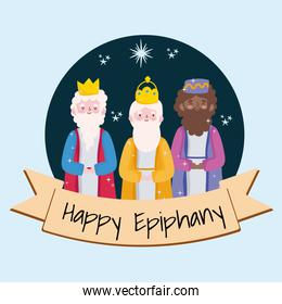 happy epiphany, three wise kings tradition christian