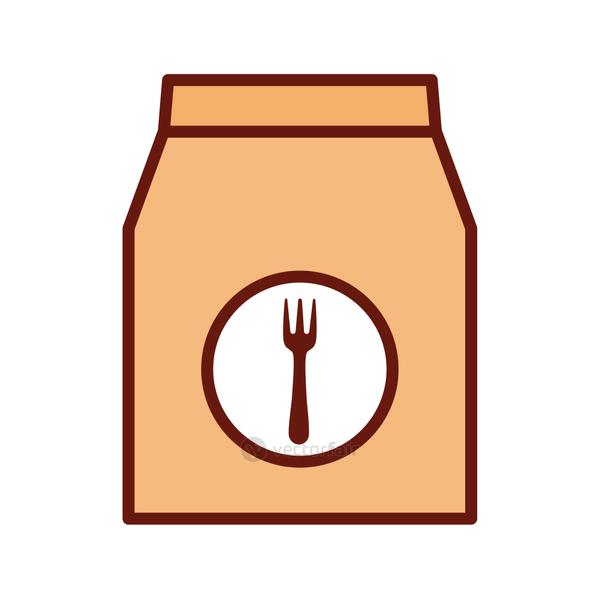food bag with a fork in the middle of it