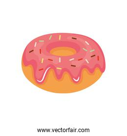 sweet donut icon, colorful design