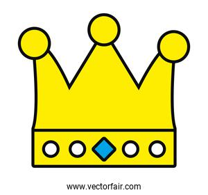 royal crown isolated icon