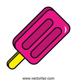 ice cream with stick vector design