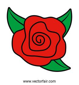 rose flower icon isolated vector design