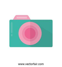 camera with a green and pink color