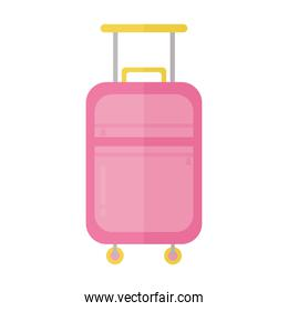 suitcase with a pink color