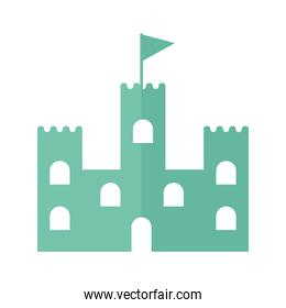 castle with a green color