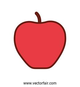 apple with red color on a white background