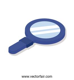 magnifying glass isometric style icon