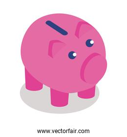 piggy savings isometric style icon