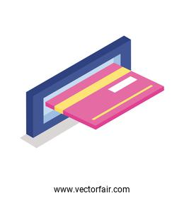credit card isometric line style icon
