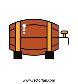 beer barrel wooden oktoberfest line and fill style icon