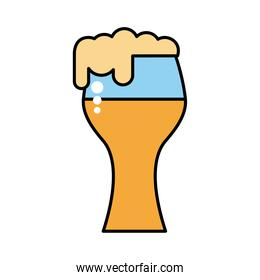 beer glass drink oktoberfest line and fill style icon