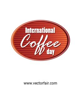 poster international coffee day label