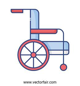 wheelchair disabled person flat style icon
