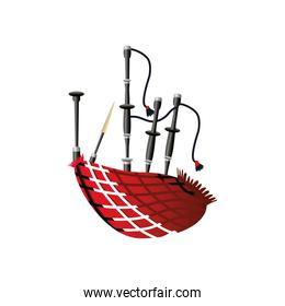 bagpipes wind musical instrument detailed icon