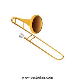 trombone wind musical instrument detailed icon