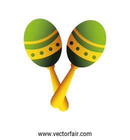 maracas percussion musical instrument detailed icon