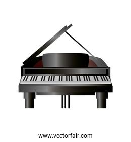 piano keyboard musical instrument detailed icon