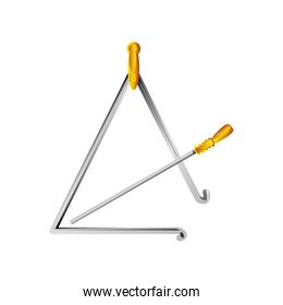triangle percussion musical instrument detailed icon