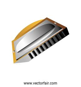 harmonica wind musical instrument detailed icon