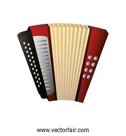 accordion wind musical instrument detailed icon