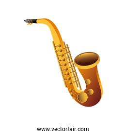 saxophone wind musical instrument detailed icon