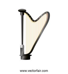 harp string musical instrument detailed icon