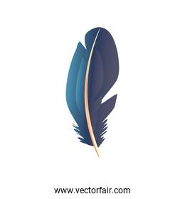 feather tribal decoration ornament icon
